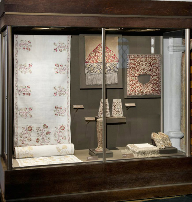 Showcase 17. Ornamental embroidery of the 17th century