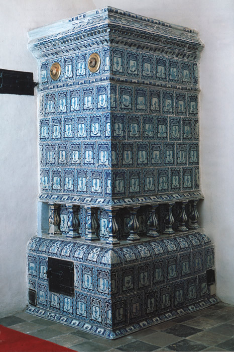 Glazed tile stove of the 18th century